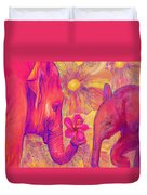 Elephant Love Duvet Cover by Jane Schnetlage