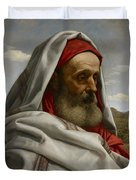 Eliezer Of Damascus Duvet Cover by William Dyce