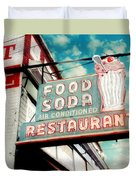Elliston Place Soda Shop Duvet Cover by Amy Tyler
