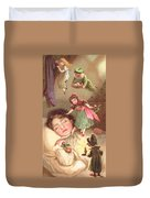 Elves Delivering Christmas Gifts Duvet Cover by English School