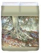 Elves In Rabbit Warren Duvet Cover by Photo Researchers