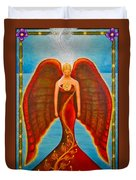 Emeliah Angel Of Inner Journeys Duvet Cover by Kevin Chasing Wolf Hutchins