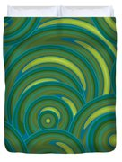 Emerald Green Abstract Duvet Cover by Frank Tschakert
