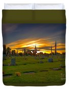 Emmett Cemetery Duvet Cover by Robert Bales