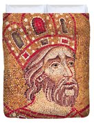 Emperor Constantine I Duvet Cover by Byzantine School