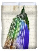 Empire State Building Duvet Cover by Aged Pixel