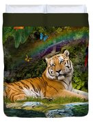 Enchaned Tigress Duvet Cover by Alixandra Mullins