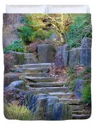 Enchanted Stairway Duvet Cover by Athena Mckinzie