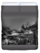 Enchanted Valley In Black And White Duvet Cover by Bill Gallagher