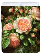 English Elegance Roses in a Glass Duvet Cover by Albert Williams