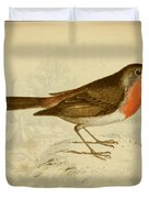 English Robin Duvet Cover by Philip Ralley