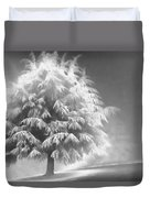 Enlightened Tree Duvet Cover by Don Schwartz