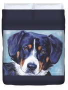 Entlebucher Mountain Dog Duvet Cover by Lee Ann Shepard