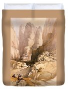 Entrance To Petra Duvet Cover by David Roberts