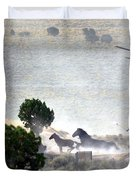 Escape From Butte Valley Trapsite Triple B Duvet Cover by Afroditi Katsikis