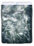 Evening Grass Flowering Duvet Cover by Elena Elisseeva