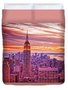 Evening In New York City Duvet Cover by Sabine Jacobs