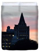 Evening In New York Duvet Cover by Sonali Gangane