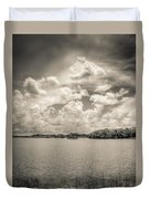 Everglades Lake 6919 Bw Duvet Cover by Rudy Umans