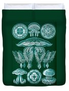 Examples Of Discomedusae Duvet Cover by Ernst Haeckel