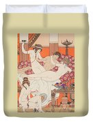 Excess Of Wine And Women Duvet Cover by Joseph Kuhn-Regnier