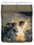 Execution Of The Defenders Of Madrid Duvet Cover by Francisco Jose de Goya y Lucientes