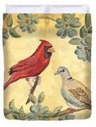 Exotic Bird Floral and Vine 2 Duvet Cover by Debbie DeWitt