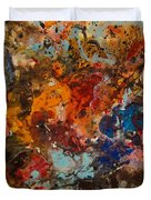 Explosive Chaos Duvet Cover by Natalie Holland