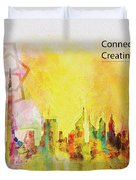 Expo Poster 1 Duvet Cover by Corporate Art Task Force