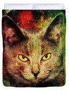Eye Contact Duvet Cover by Anastasiya Malakhova