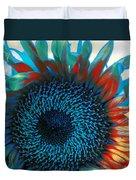 Eye Of The Sunflower Duvet Cover by Music of the Heart