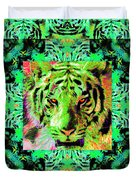 Eyes of The Bengal Tiger Abstract Window 20130205m180 Duvet Cover by Wingsdomain Art and Photography