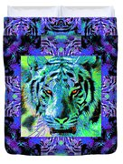 Eyes Of The Bengal Tiger Abstract Window 20130205m80 Duvet Cover by Wingsdomain Art and Photography