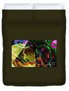 Face In The Rock Moon Glow And Night Vision Duvet Cover by Elizabeth McTaggart
