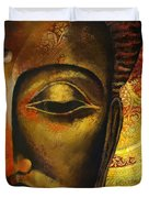 Face Of Buddha  Duvet Cover by Corporate Art Task Force