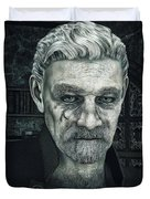 Face With A Story In It Duvet Cover by Jutta Maria Pusl