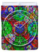 Faces Of Time 3 Duvet Cover by Mike McGlothlen