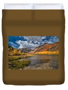 Fall At North Lake Duvet Cover by Cat Connor