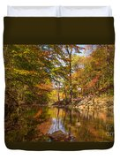Fall at Valley Creek  Duvet Cover by Rima Biswas