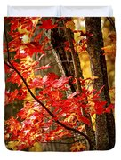 Fall Forest Detail Duvet Cover by Elena Elisseeva