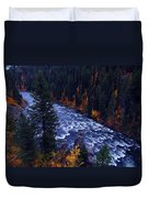 Fall Lined River Duvet Cover by Raymond Salani III