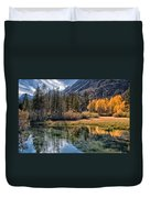 Fall Reflections Duvet Cover by Cat Connor