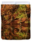 Fall Reflections Duvet Cover by Karol  Livote