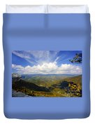 Fall Scene From North Fork Mountain Duvet Cover by Dan Friend