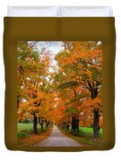 Falling For Country Farm Duvet Cover by Lingfai Leung