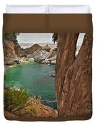 Falling Into The Bay Duvet Cover by Adam Jewell