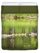 Family Outing Duvet Cover by Bill Pevlor