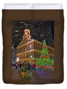 Faneuil Hall Night Duvet Cover by Joann Vitali