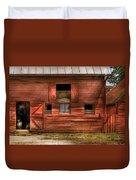 Farm - Barn - Visiting The Farm Duvet Cover by Mike Savad