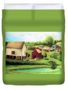 Farm Duvet Cover by Bernadette Krupa